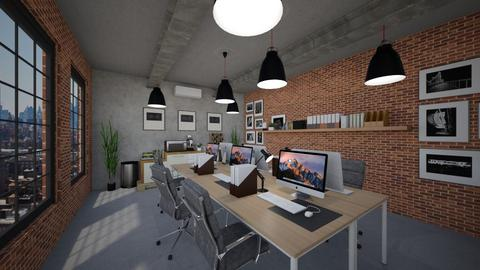 industrial workplace - Rustic - Office - by GhaidaTheDesigner