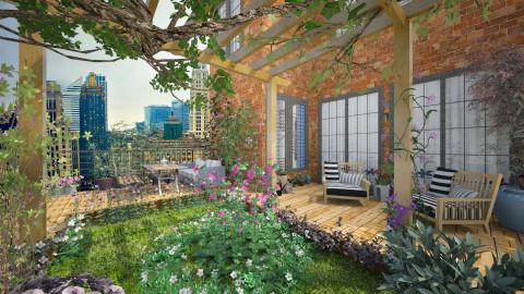 Urban garden - Garden - by Lizzy0715