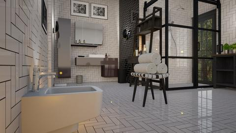 Black_and_White_Bathroom - Bathroom - by ZuzanaDesign
