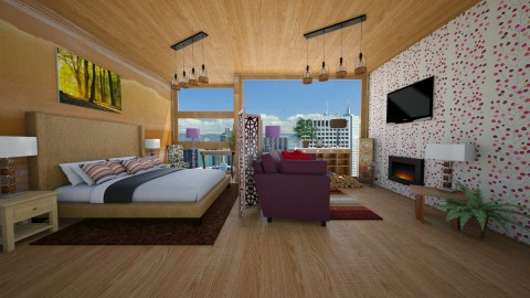 open plan studio flat 1 - Modern - Living room - by Suzanne Hoskins