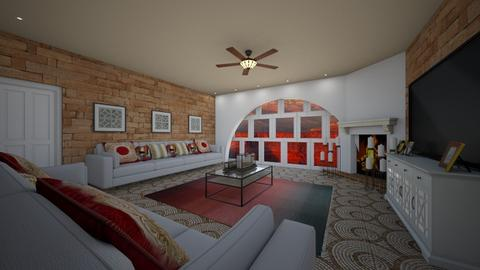 canyon inspired - Living room - by MSK