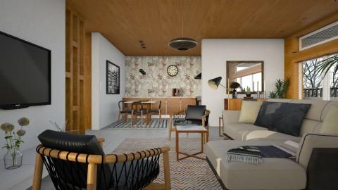 MCM Apt_LivingRoom - Retro - Living room - by evahassing