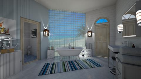 Nautical Bathroom - Bathroom - by ElleP