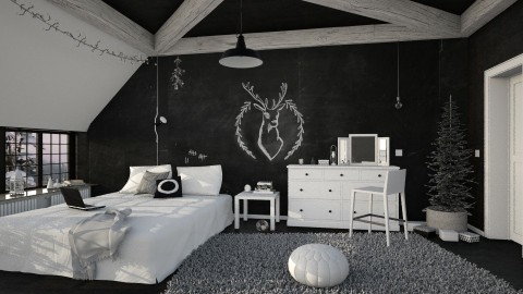 Oh Deer a Mistletoe - Bedroom - by sativah