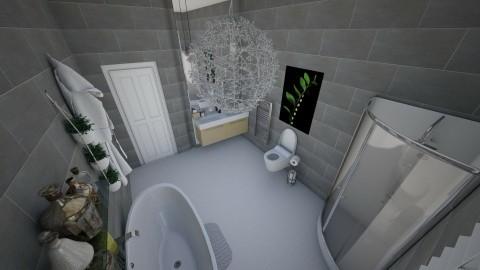 High Loft Style Apartment - Bathroom - by claudiairis04