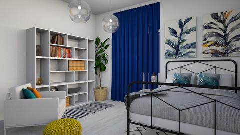 Minimal Blue and Yellow - Minimal - Bedroom - by LeilaniD04