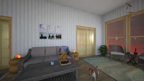 Beach Deck - Rustic - Living room - by housekeeper17