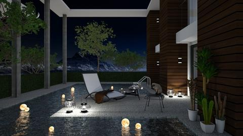 Night garden - Garden - by aniachoynowska