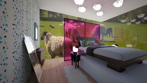 Sheep - Rustic - Bedroom - by Brittany Smears