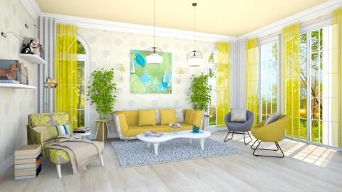sunlight - Living room - by teffy