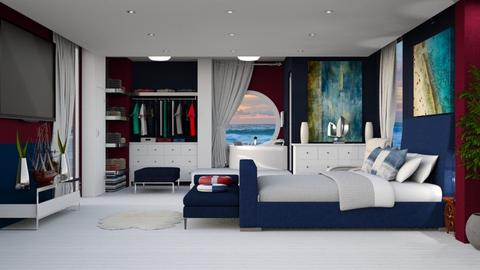 NAUTICAL BEDROOM - Bedroom - by KC Pechangco
