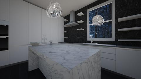 Black and Grey - Kitchen - by PenAndPaper