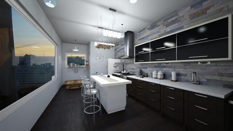 kitchen modern - Modern - Kitchen - by elliebaaron