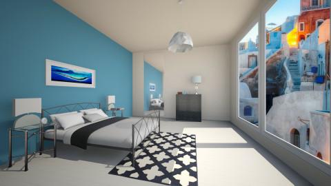 blue sea - Retro - Bedroom - by franciss