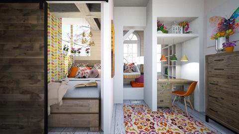 Wild Flower Bedroom - Bedroom - by Rebekah Pincock
