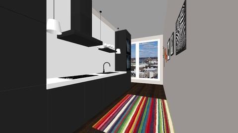 long kitchen - Minimal - Kitchen - by PFrate