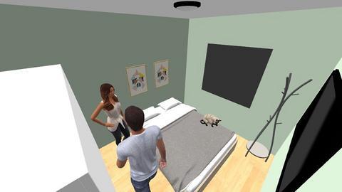 Simple Bedroom - Minimal - Bedroom - by Franciele Oliveira