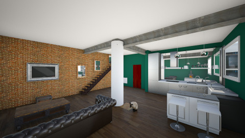 3d room design 2 - Living room - by Fashionfool
