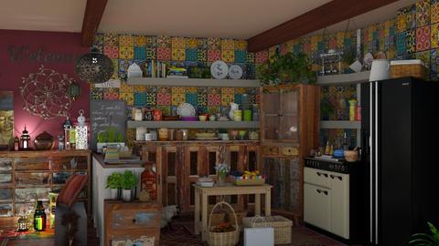 boho kitchen - by Teri Dawn