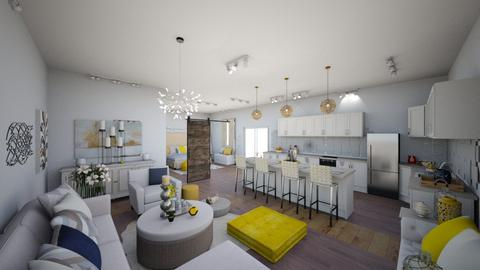 Yellow Interior Wide view - by maddiedelong333