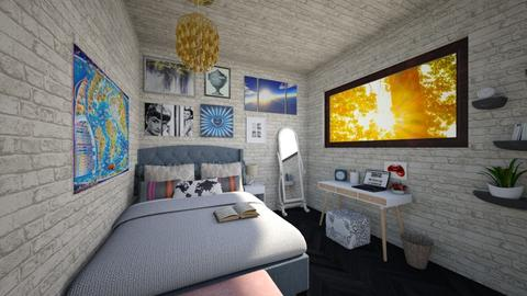 teenage basement bedroom - Retro - Bedroom - by The vamps lover
