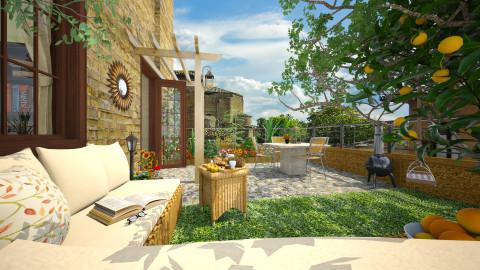 Breakfast in Orvieto - Garden - by MandyB84