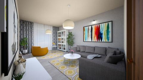 living room modern - Modern - Living room - by Vasile Bianca Rozalia