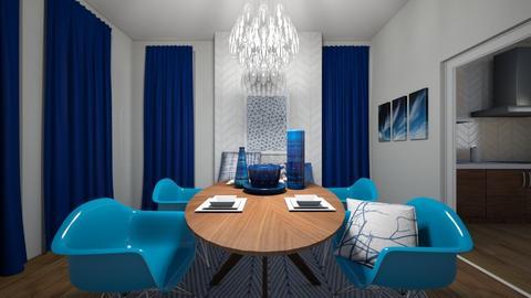 Blue on Blue - Modern - Dining room - by XiraFizade
