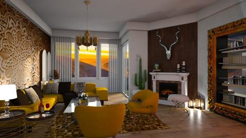 yellow chair1 - Glamour - Living room - by soralobo