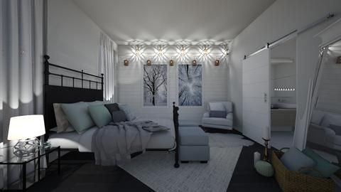 winter bedroom - Bedroom - by stephanie delios