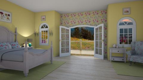 Wild About Flowers - Bedroom - by Tzed Design