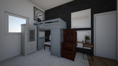 Dorm Room  - Bedroom - by mikihanam