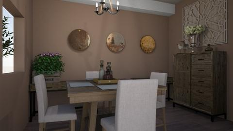 rustic simple dining - Dining room - by Phospective