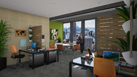 urban jungle office - Office - by 11Kay11
