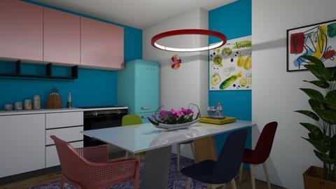 cozinha colorida - Kitchen - by Tainaraa