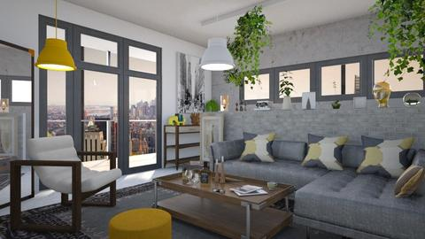 M_NYC - Eclectic - Living room - by milyca8