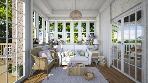 Ready for the Summer - Living room - by Violetta V