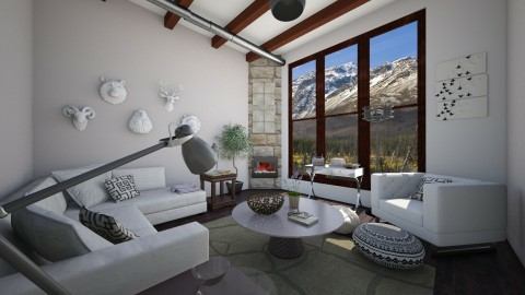 Industrial Living - Masculine - Living room - by Raquel Collison