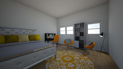 yellow bedroom - Modern - Bedroom - by mylifeisgoood44