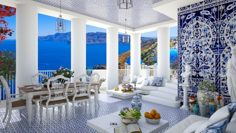 Design 77 Greek Family Patio - Garden - by Daisy320