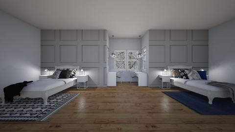 winter bedroom - Bedroom - by izzymondo