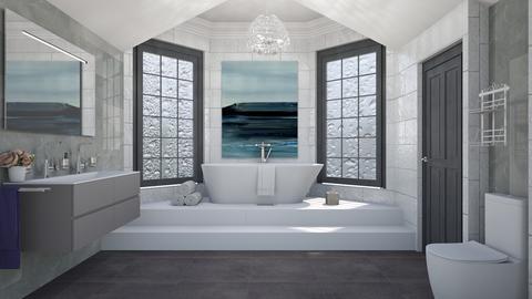 Attic Bathroom_ - Modern - Bathroom - by lovedsign