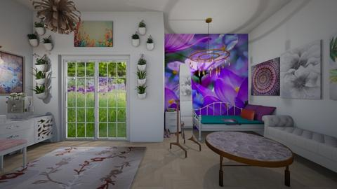 Flower Power - Feminine - Bedroom - by InteriorQueen0919