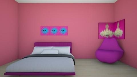 Pink - Feminine - Bedroom - by Isabella Desjardin