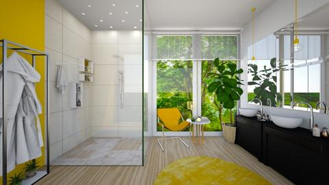 Yellow Bathroom - Bathroom - by anamarijag00