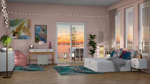 Malibu  - Bedroom - by elle rose