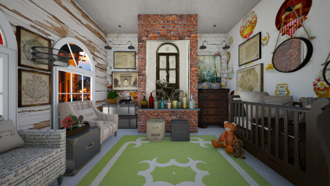 Industrial Nursery - Kids room - by sissybee