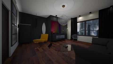 room black - Living room - by KseniyaL