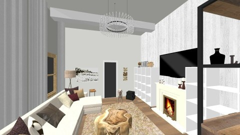 Rustic Contemporary  - Rustic - Living room - by k8manion
