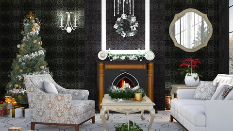 M_ Christmas - Living room - by milyca8